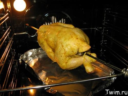 рецепт приготовления куры в духовке целиком