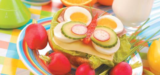 Правильное питание ребенка - простые рецепты интересных блюд для завтрака, обеда и ужина