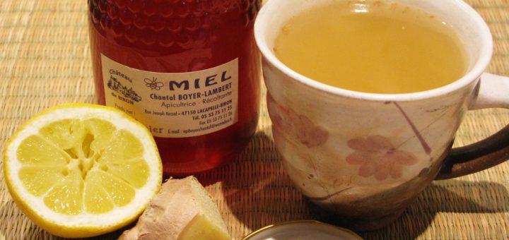 Имбирно-лимонный напиток с медом для укрепления иммунитета