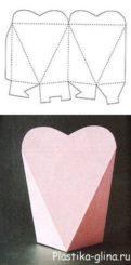 упаковка в вииде сердца